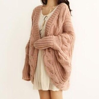 pink coat fall outfits cute doublelw knitted cardigan cardigan sweater knitwear fashion style winter sweater girly oversized sweater clothes
