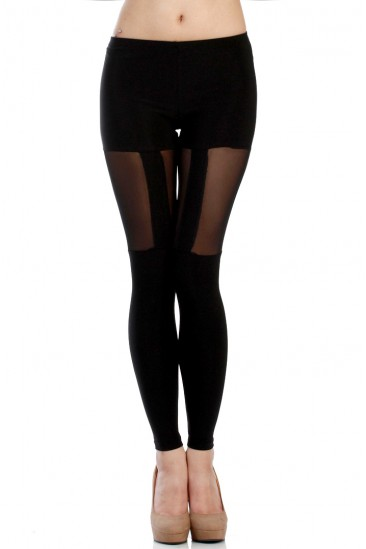 LoveMelrose.com From Harry & Molly | MESH GARTER LEGGINGS
