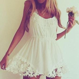 dress off white sundress cute dress lace dress www.ebonylace ebony lace