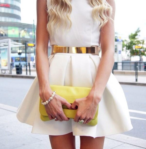 skirt belt white dress bag bag dress cute dress cute dress