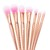 Gold Textured Handle Makeup Brush Set -SheIn(Sheinside)