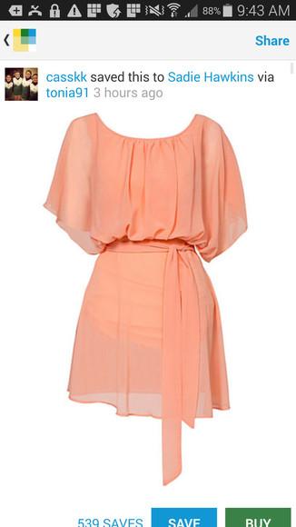 coral dress peach dress