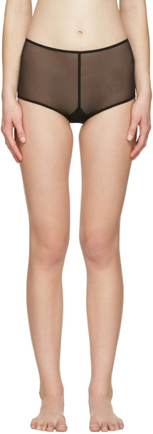 006bf38a370 Ann Demeulemeester Black La Fille Do Edition Tulle Briefs - Wheretoget