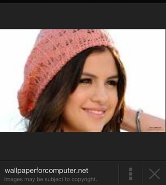 hat knitted beanie light pink hat beanies selena gomez
