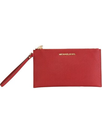 women clutch red bag