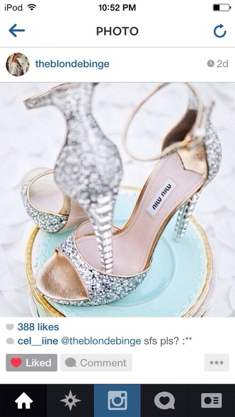 shoes silver shoes party shoes high heels diamonds pll ice ball wedding shoes miu miu