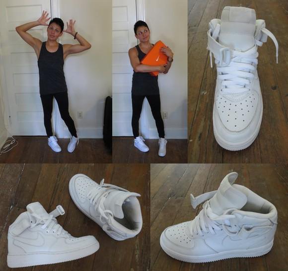 shoes sneakers high top sneaker nike air force 1 nike air nike air force 1 high tops af1 uptown nike
