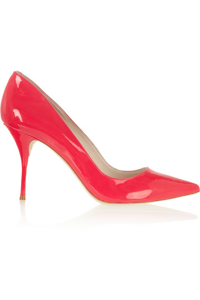 Sophia Webster | Lola neon patent-leather pumps | NET-A-PORTER.COM
