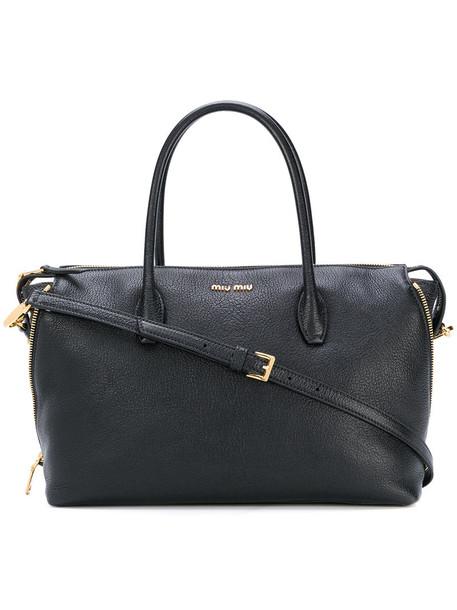 Miu Miu - top handle tote bag - women - Leather - One Size, Black, Leather