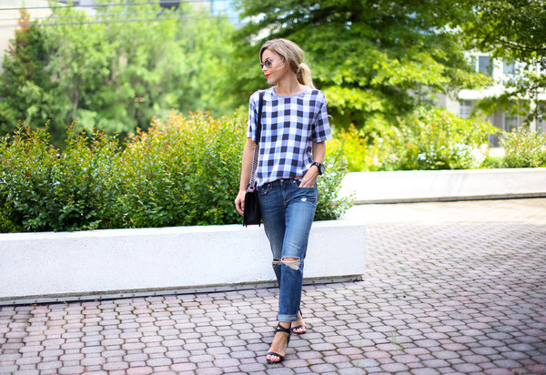 happily grey top shoes jeans bag jewels