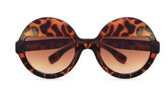 sunglasses summer sun glasses leopard print round sunglasses
