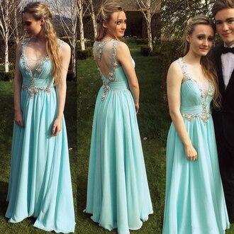dress prom dress long prom dress blue dress
