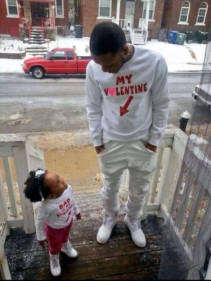 valentine cute sweater dad daddy baby daddy daughter sweet