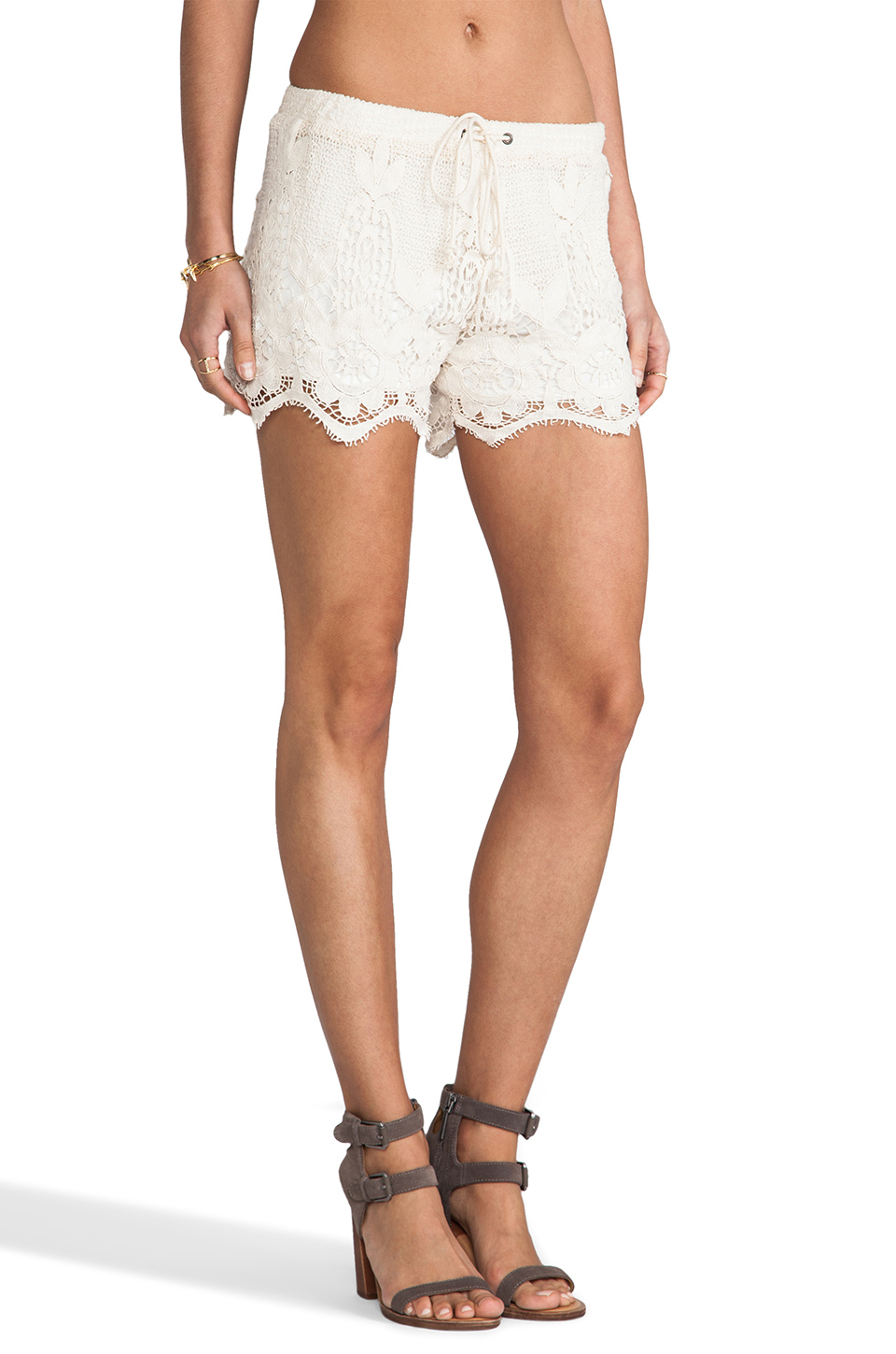 Lovers   Friends Adore Short in Natural Lace | REVOLVE