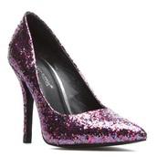 shoes,purple shoes,glitter,shoedazzle,pumps,pointed toe pumps