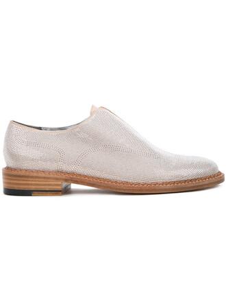 women loafers suede grey metallic shoes