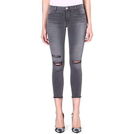 J BRAND - 822 cropped skinny mid-rise jeans | Selfridges.com