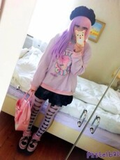cotton candy,sweatshirt,kawaii,pastel goth,fairy kei,candy,sweet,asian fashion,jumper,milklim