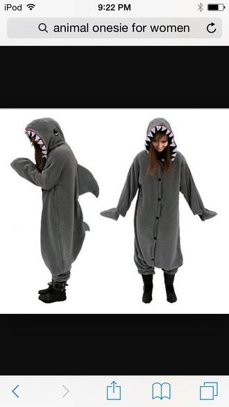 pajamas shark onsies