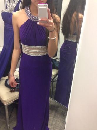 dress prom dress purple dress long dress