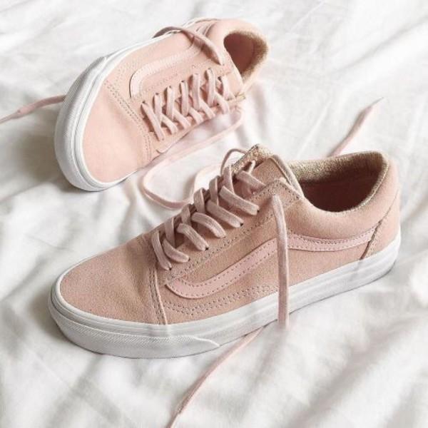 2c3e7588314bf2 shoes baby pink vans pastel pink vans.