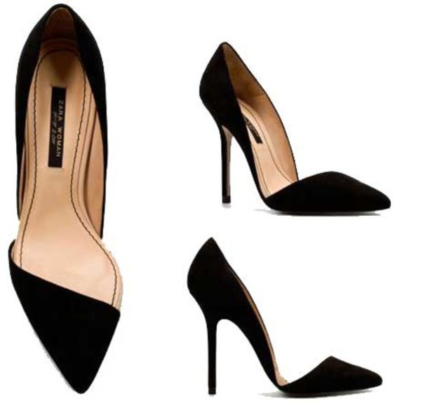 c0b5f052cb shoes asymmetrical zara black shoes high heels black heels black pumps  pumps pointed toe pointed toe