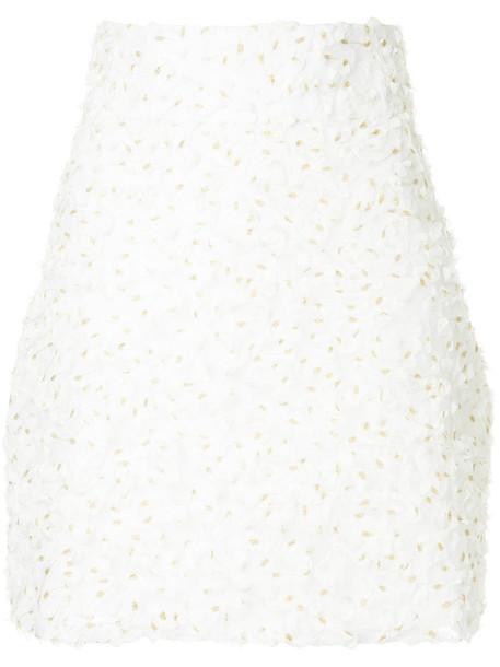 Bambah skirt women white cotton