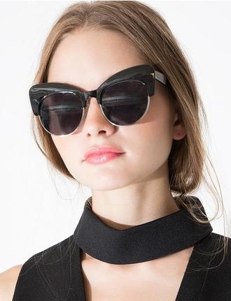 sunglasses sunnies black sunglasses cat eye cute oversized summer summer sunglasses pixie market pixie market girl