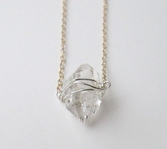 jewels crystal stone necklace