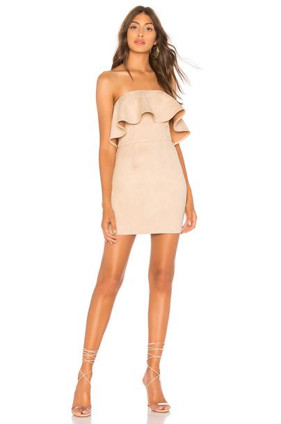 About Us Rebecca Strapless Dress in beige / beige