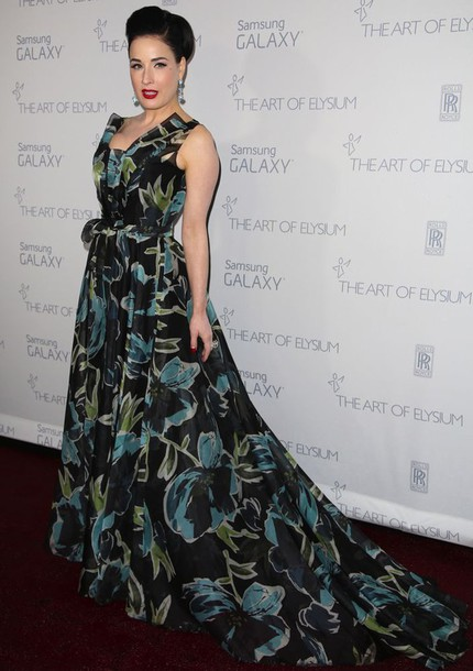 dress dita von teese carolina herrera gown