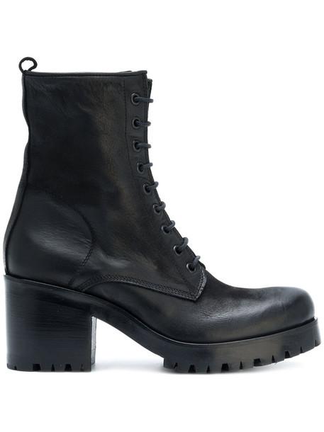 zip women boots leather black shoes