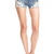 ROMWE | Lace Pocketed Denim Shorts, The Latest Street Fashion