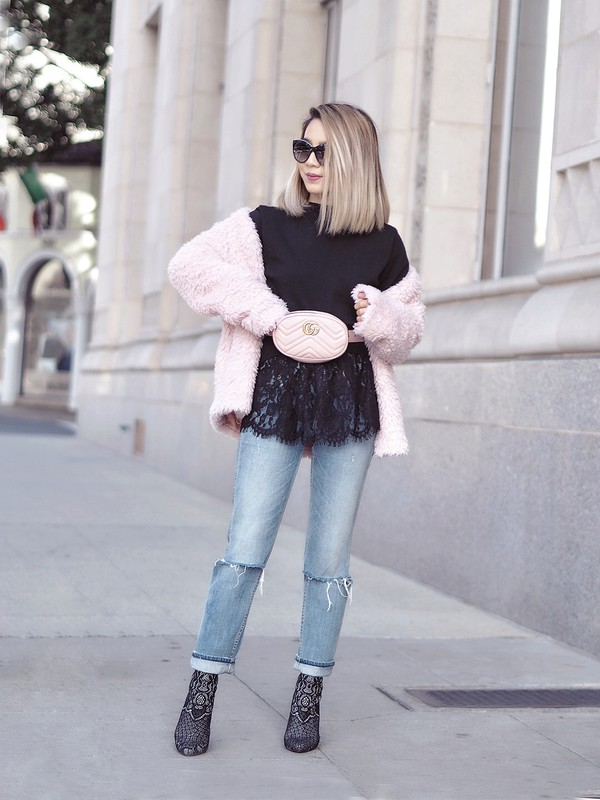 laminlouboutins blogger belt bag dress shoes sunglasses belt bag gucci bag cardigan winter outfits