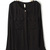 Black Long Sleeve Epaulet Pockets Blouse - Sheinside.com
