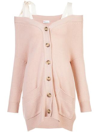 cardigan women cotton wool purple pink sweater