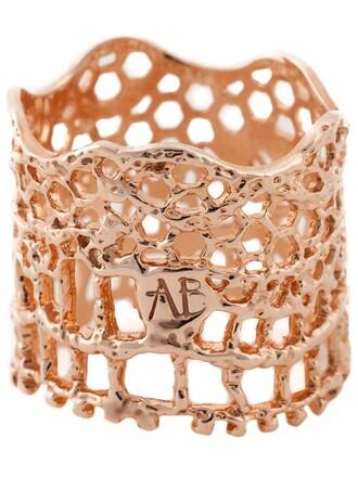vintage ring lace metallic jewels
