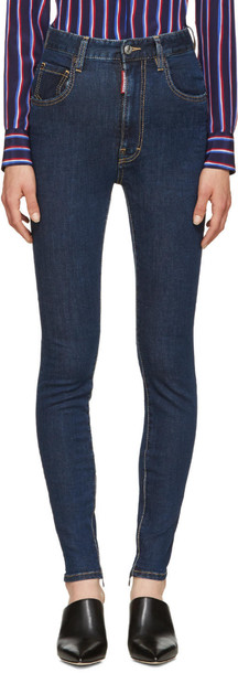Dsquared2 jeans high blue