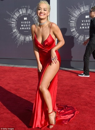dress rita ora red dress long dress
