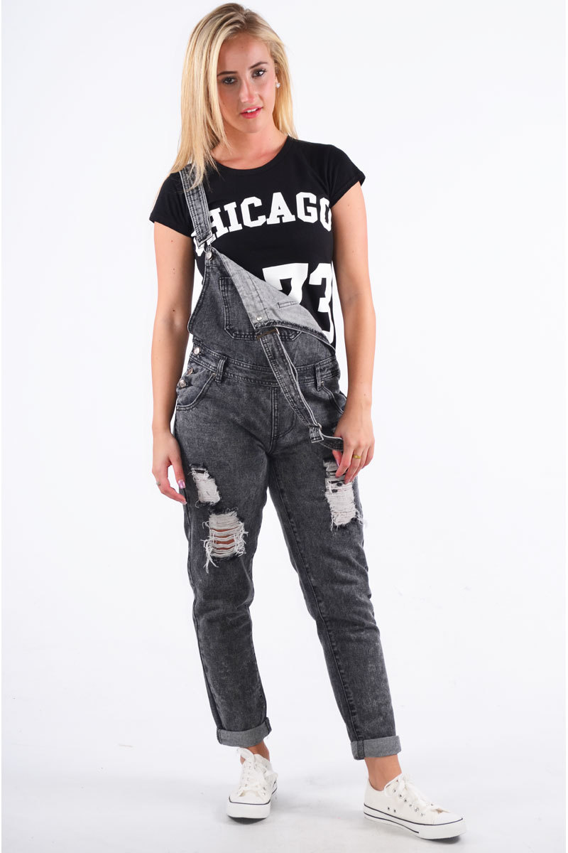 Laidh Dungaree In Black