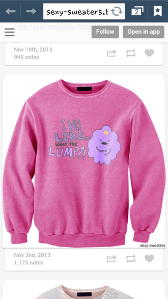 sweater tv show adventure time blouse