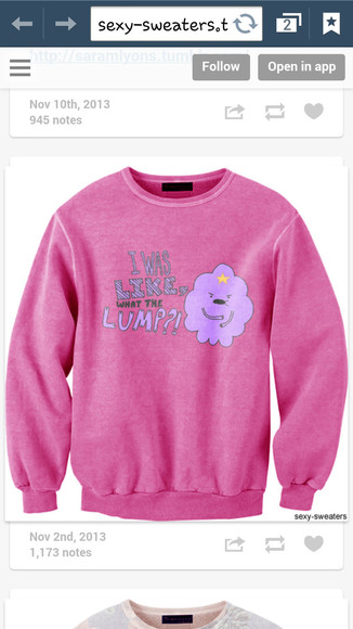 tv show sweater adventure time