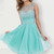 Jewel Neck Handmade Sewing Beads Short Elegant Homecoming Dresses UK - Happidress