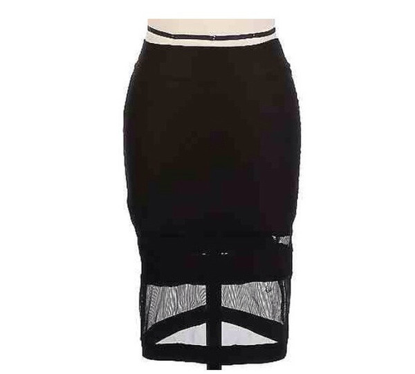 White Mesh Midi Skirt, 2013 2014 trend. Stylish fun fashion – Mod Marie Boutique