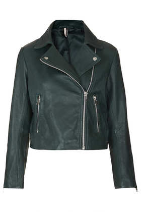 Boxy Leather Biker Jacket - Jackets & Coats  - Clothing  - Topshop