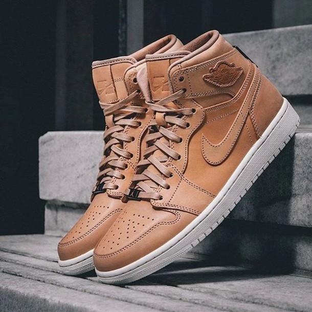 862c5942939 shoes air jordan tan leather sneakers basketball dope cool retro jordans