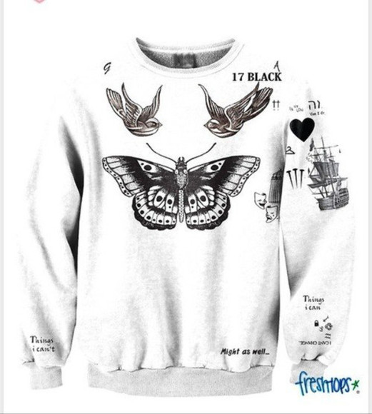 butterfly black sweater harry styles harry styles tattoo harry styles' tattoos tattoos tattoo harrystyles, onedirection, tank, shirt, 1d oversized sweater white trainers swallows swallow heart nails ship masks one d one direction