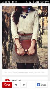 skirt,jumper,preppy,smart,classy,plaid skirt,tartan skirt,office outfits,plaid,fall outfits