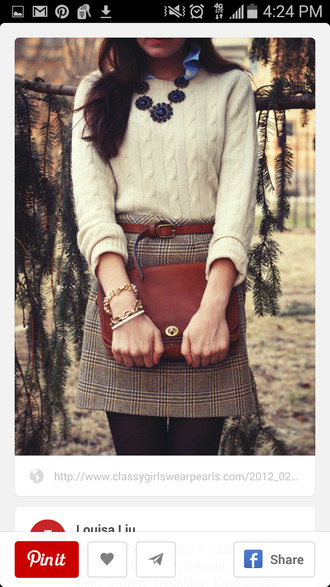 skirt jumper preppy smart classy plaid skirt tartan skirt office outfits plaid fall outfits