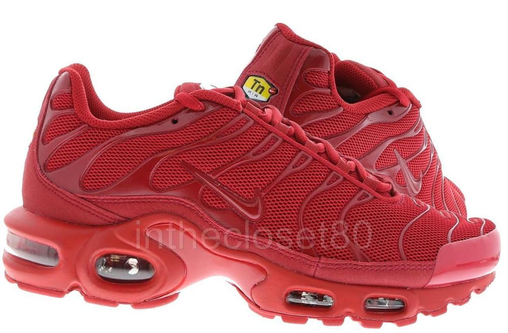 100% authentic 85940 ceca3 Nike Air Max Plus Tuned 1 Tn Triple Varsity Red Mens Trainers 647315 606